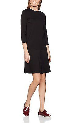38, Black (black 2999), Tom Tailor Women's Feminine Punto Dress NEW