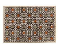 Alfombra de polipropileno Pallazio I, multicolor - 133x190 cm