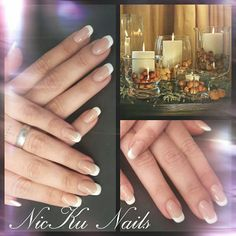 beautyful white french naildesign
