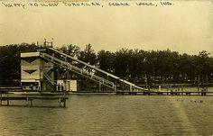 Happy Hollow Toboggan Ride, 1927 - Cedar Lake, Indiana by Shook Photos, via Flickr