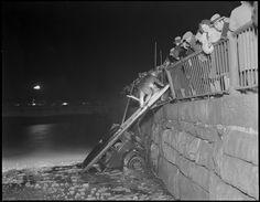 car wreck in Boston in the 1930s
