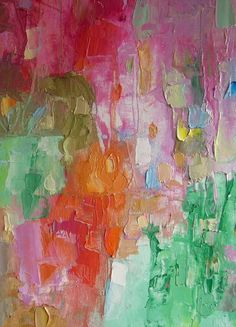 abstract oil paintings by Mossmottle, etsy