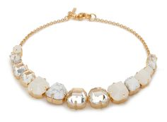 Faceted Cube Collar Necklace // Lele Sadoughi