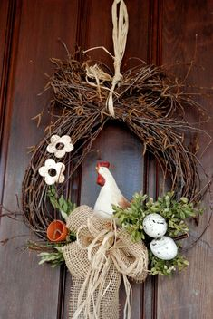 Wunderschöne Ostern Kranz Ideen You are in the right place about spring wreath Easter Wreaths, Christmas Wreaths, Christmas Crafts, Christmas Decorations, Spring Wreaths, Diy Wreath, Wreath Ideas, Advent Wreath, Wreath Burlap