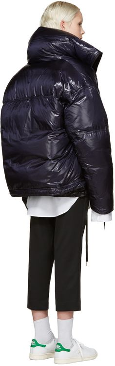 Raf Simons - Black & Navy Reversible Down Jacket
