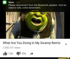 32 Hilarious Shrek Memes - We share because we care. A resource for sharing the latest memes, jokes and real stuff about parenting, relationships, food, and recipes Funny Shit, Stupid Funny Memes, Funny Posts, Funny Quotes, Hilarious Jokes, Funny Stuff, Random Stuff, Lmfao Funny, Hilarious Animals