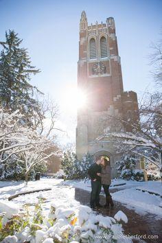 michigan state university clock engagement love photo