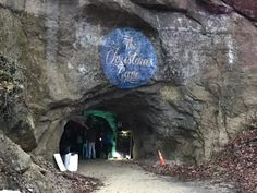The Christmas Cave at White Gravel Mines in Minford, Ohio features unique illuminations, thousands of lights and biblical scenes depicting the birth of Christ via a mile-long system of passgeways within the caverns.