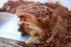 Paleo Apple Crisp -- made with apples, almond meal, cinnamon, honey, coconut oil, salt, lemon, and coconut sugar.