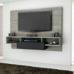 TV Wall Mount Ideas To Create Perfect View Of Your Decor 50 Cool TV Stand Designs for Your Home tv stand ideas diy, tv stand ideas for living room, tv stand ideas bedroom, tv stand ideas black, Bedroom Tv Stand, Tv In Bedroom, Bedroom Ideas, Tv Wall Design, House Design, Bedroom Tv Unit Design, Deco Tv, Home Tv Stand, Ikea Tv Stand