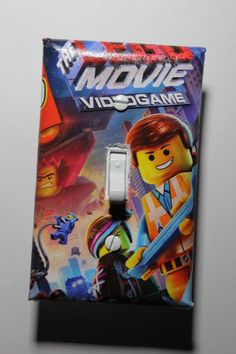 Lego Movie Video Game Light Switch Cover Plate boys room decor