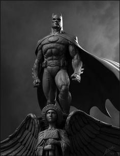 Badass Batman by Davarb