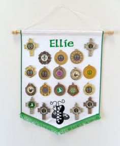 Personalised embroidered Irish dance medal by JaneAtNumber13