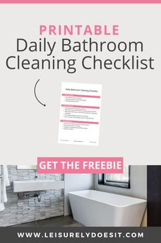 Save Your Relationship With This Free Bathroom Cleaning Checklist - Cleaning Hacks Bathroom Cleaning Checklist, Daily Cleaning Checklist, Household Cleaning Schedule, Cleaning Bathroom Tiles, Cleaning Schedule Printable, House Cleaning Tips, Deep Cleaning, Cleaning Products, Cleaning Routines