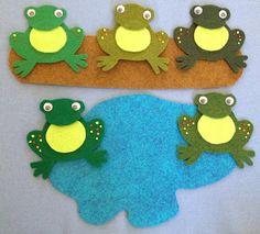 Five Little Speckled Frogs Felt Board Set RHYME by FeltBoardMagic