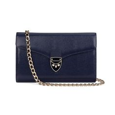 Part of the Aspinal Shield Lock Family and our 2015 Spring Summer Collection, we present the well-loved Manhattan Clutch. Handmade from the finest Navy lizard print Italian calf leather and lined in our glamorous shimmering grosgrain, our best. Leather Clutch Bags, Leather Purses, Leather Handbags, Navy Blue Clutch, Navy Blue Handbags, Bag Accessories, Manhattan, Hand Bags