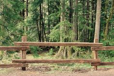 Cedar Split Rail Fence by Creatively Happy Studio on @creativemarket