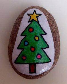 Christmas Tree Story Stone
