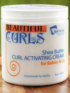 Beautiful Curls Activating Cream - Natural Hair Care Products  Safe for 'babies and up' since it's simply a mix of edible and whole ingredients, Beautiful Curls' activating cream is made with coconut oil, aloe vera, shea butter, mango and vanilla extracts. Ideal for those with naturally curly hair, it helps define curls without weighing down your hair or greasing it up. ($14 at beautifulcurls.net)
