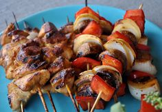 Quick Teriyaki Marinade for Grilled Chicken and Vegetable Kabobs