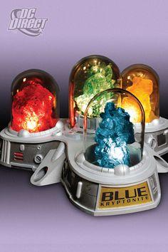 JLA Trophy Room: Multi-Coloured Kryptonite Display