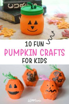 Whether we're picking them, carving them, or enjoying them in our daily lattes, pumpkins represent fall. For kids who are too young to carve their own pumpkins, introduce them to some of these adorable pumpkin crafts. | #lifeasmama #fall #pumpkins #crafts #diy #kidscrafts Easy Fall Crafts, Fall Crafts For Kids, Family Crafts, Fun Crafts, Halloween Favors, Halloween Crafts, Spooky Halloween, Halloween Ideas, Halloween Decorations