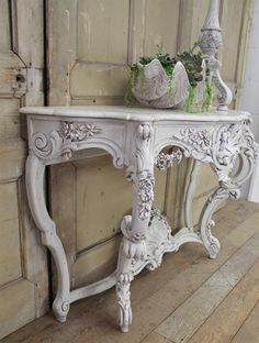 Antique Painted Gilt Wood Console from Full Bloom Cottage