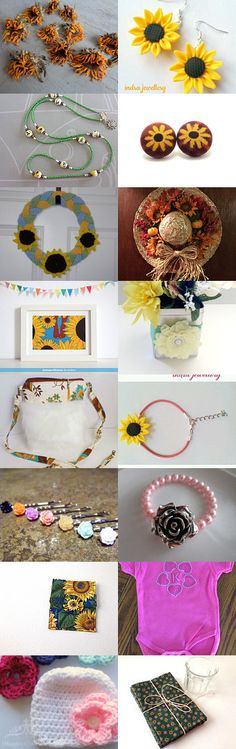 Beautiful Summer Florals!  by Deb Peterson-Smith on Etsy--Pinned+with+TreasuryPin.com