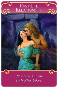 Oracle Card Past-Life Relationship Doreen Virtue official Angel Therapy Web site Free Tarot Cards, Twin Flame Love, Twin Flames, Angel Cards, Oracle Cards, Past Life, Card Reading, Fantasy, Quotes