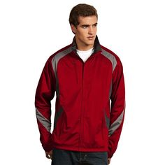 Men's Antigua Tempest Water-Resistant Golf Jacket, Size: Small, Dark Red