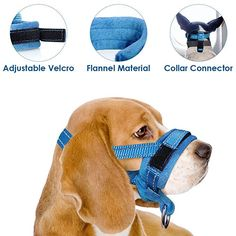 Training Pets ILEPARK Soft Dog Muzzle Medium Nylon Adjustable to Prevent from Biting Barking and Chewing M, Red
