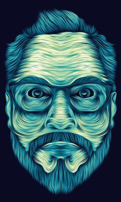 Autoportrait - Digital Art by Matias S. Gonzalez