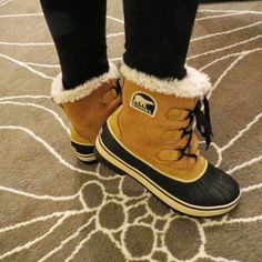 Sorel Tivoli Boot. This is the perfect winter boot for the ladies out there! Unlike the Women's Caribou or Joan of Arc styles, these are lightweight, waterproof and less bulky! You can wear them snowshoeing, walking, or playing in the snow. Also, super cute with skinny jeans and leggings-for the fashion conscious person! Light and sleek features fleece lining & insulation + waterproof shell. (Also comes in taller version) Learn more at http://www.tiotil.com/content/sorel-tivoli-boot-0