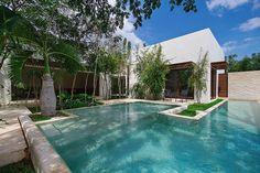 Gorgeous Pool wraps this whitewashed Aldea House by Seijo Peon Arquitectos y Asociados   Home Adore
