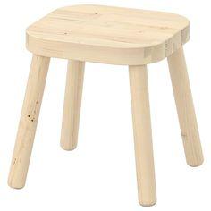 IKEA - FLISAT, Children's stool, Made of solid wood Easy to assemble without tools or screws. Banco Ikea, Sofa Cama Ikea, Playroom Furniture, Kids Furniture, Wall Storage, Toy Storage, Solid Pine, Solid Wood, Ikea Trofast