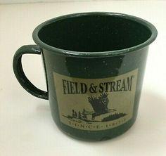 Field & Stream Enamelware Tin Metal Coffee Mug Green Speckled Oversized Camping Best Coffee Mugs, Funny Coffee Mugs, Soup Mugs, Tea Mugs, Cool Things To Buy, Wonderful Things, Fun Things, Sisters Coffee, Coffee Klatch