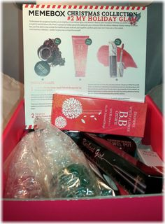 Memebox Christmas Collection #2 My Holiday Glam Review #memebox