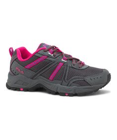Look at this #zulilyfind! Pink & Charcoal Ascent 12 Running Shoe #zulilyfinds I like this shoe