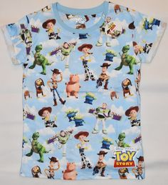 3dadda0adf PRIMARK Toy Story T-SHIRT Official Disney Pixar WOODY BUZZ T SHIRT UK 4 -  20 NEW