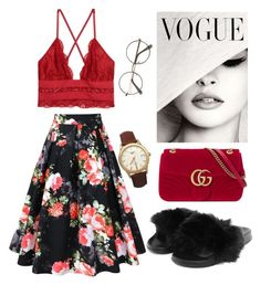 """Untitled #79"" by karinstyleonly on Polyvore featuring Gucci, Nasty Gal and Longines"