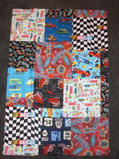 Disney Pixar and Race Car Patchwork Baby Child Boy Fleece Blanket on Etsy, $75.00