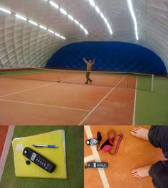 the first tennis hall with LED light in Europe