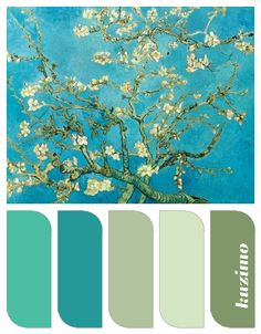 Almond Blossom by Van Gogh and color harmony