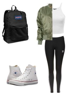 """Untitled #11"" by ivylai07 on Polyvore featuring adidas Originals, MISBHV, Converse and JanSport"