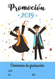 Indica la fecha de tu graduación con este cartel - Cartel Gratis #graduacion #CartelGratis #promocion2019 #escuela #colegio #graduados #promo2019 #fiestagraduacion