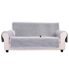 HOTNIU Couch Slipcover With Storage Pocket, 1 Piece Cotton Sofa Furniture  Protector All Season Recliner