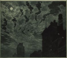 Martin Lewis - Winter Moon, 1918.