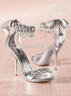 Wholesale 2012 High heels silver Rhinestone Shoes/wedding shoes for Bridal Shoes, Free shipping, $58.24~76.16/Piece | DHgate Mobile