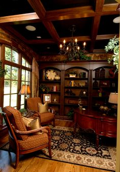 Darby Hill European Style Home Study Photo from houseplansandmore.com