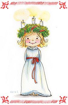 Illustration Lucia Mädchen; #Lucia